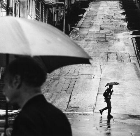 Passing Umbrellas, San Francisco