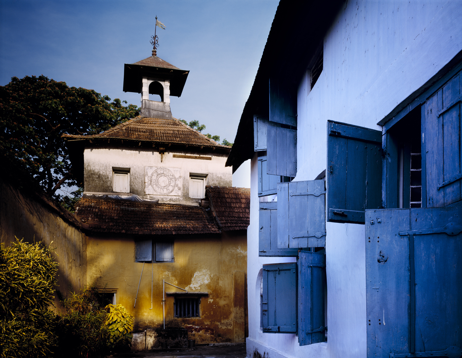 Pardesi Synagogue and Jewish Clock Tower, Cochin, India