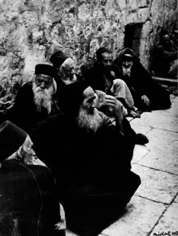Sephardic Jews at the Western Wall, Jerusalem