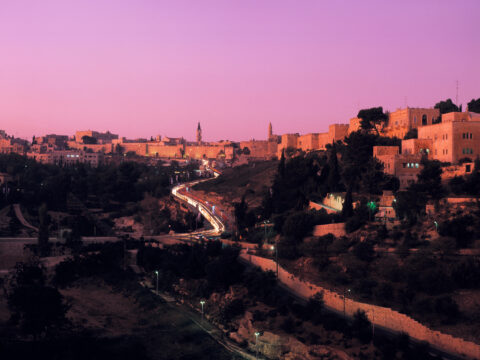 Old City, dusk (Jerusalem)