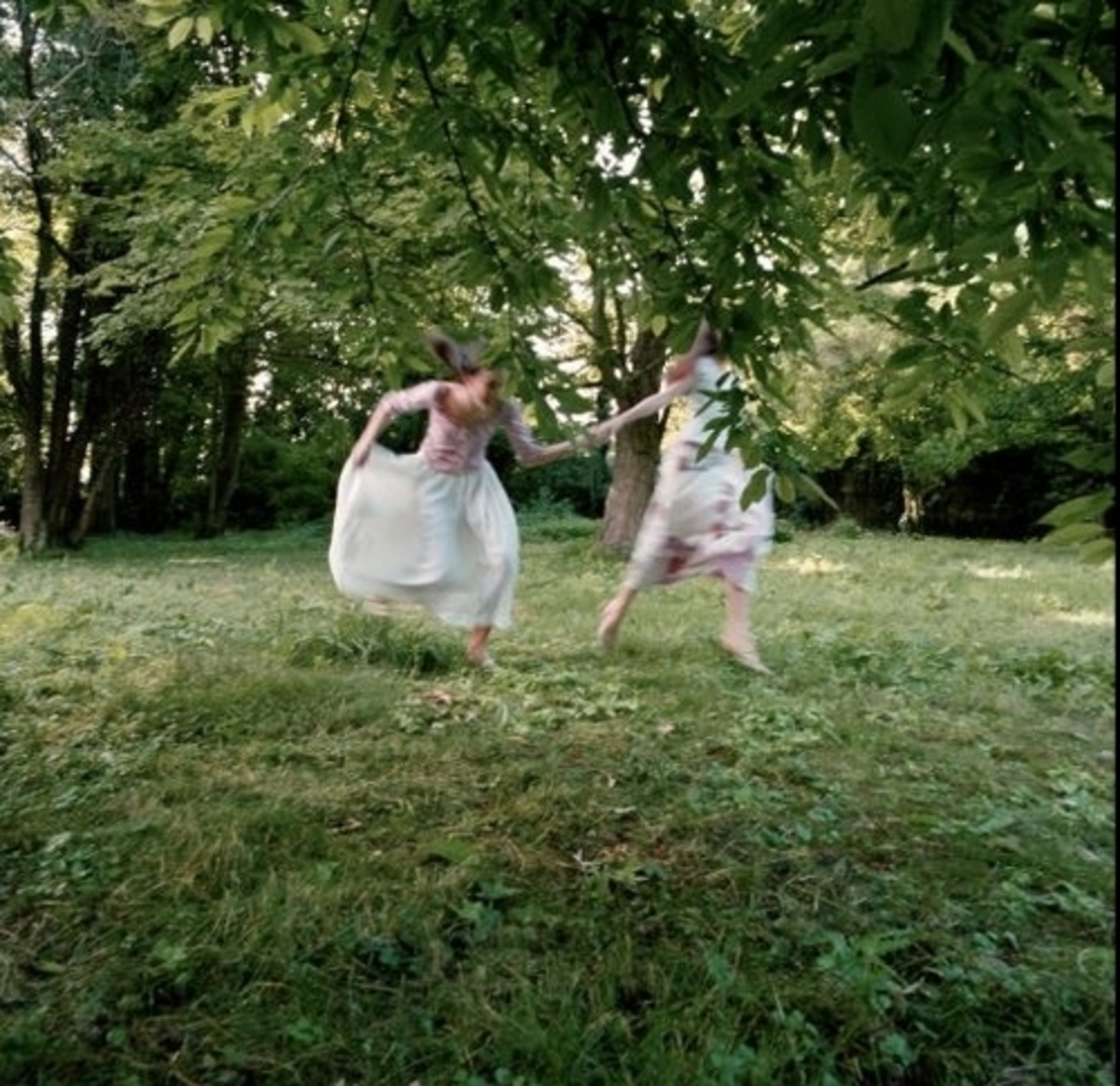 Young Girls Running, Chateau du Mesnil