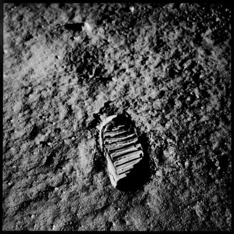Aldrin's boot print, Apollo 11