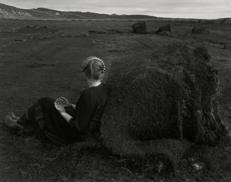 Steinunn with Turf Rolls, Kleppjárnsstaðir, Iceland