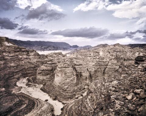 No name sandstone canyon, Sinai